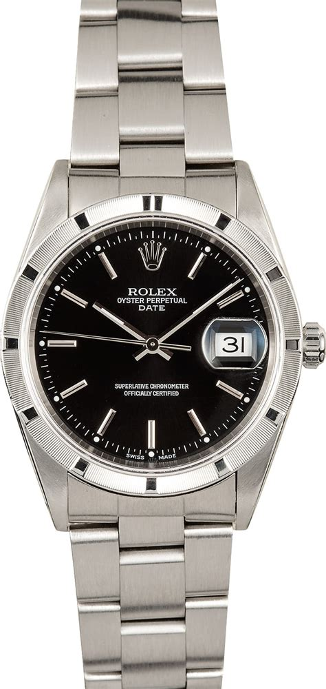 rolex date  stainless steel
