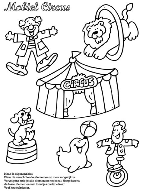 Circus Vlag Kleurplaat by Kleurplaat Mobiel Circus Kleurplaten Nl