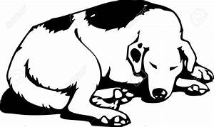 sleeping animal clipart black and white - Clipground