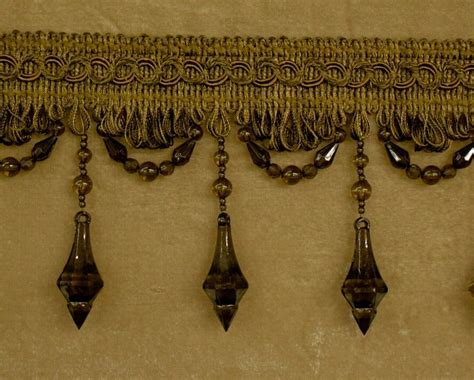 Upholstery Fringe Trim by 5 Yards Beaded Fringe Trim For Drapery And Upholstery In