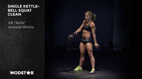 kettlebell squat clean single