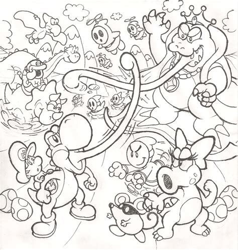yoshi island coloring pages   print