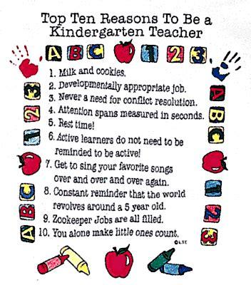 Top 10 Reasons Top 10 Reasons To Be A Kindergarten Teacher
