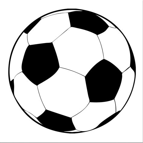 Clip Soccer Football Clipart Black And White Clipart Panda Free