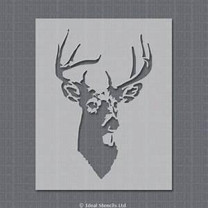 Stags Head Decor & Craft Stencil Ideal Stencils