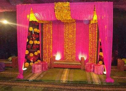 Holud Gaye Stage Decoration Idea Bengali Simple