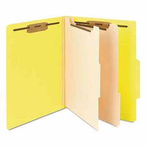 smd14004 smead top tab classification folder zuma With letter file dividers