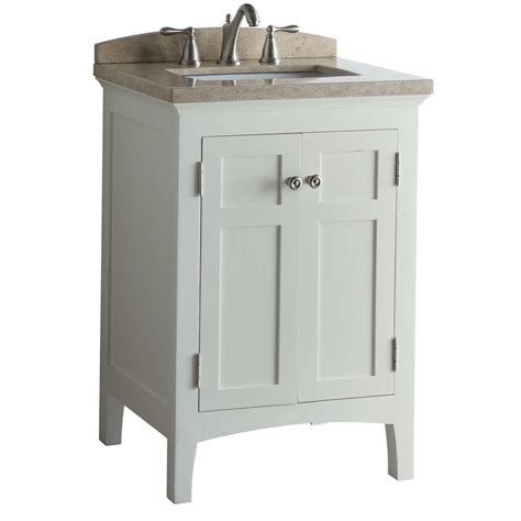 shop allen roth norbury white undermount single sink bathroom vanity with engineered top