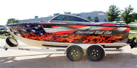 American Flag Boat Wrap by Vinyl Boat Wraps Images
