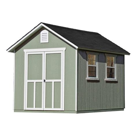 Home Depot Backyard Sheds by Handy Home Products Meridian 8 Ft X 10 Ft Wood Storage