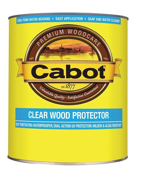 clear wood protector cabot