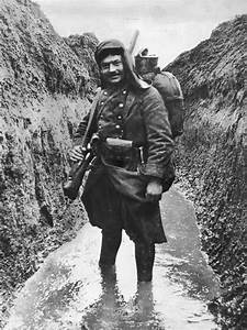French Soldier In A Watery Trench