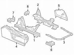 Gmc Sierra 1500 Seat Track Cover  Outer  Rear  Passenger