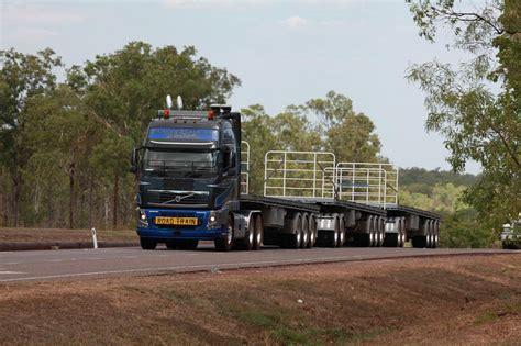 Heavy Haulage Volvo Truck Stuart Highway Near Palmerston