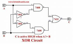 Xor Gate Circuit Diagram Using Transistor