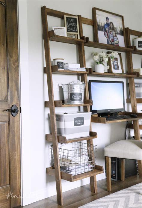 wall book shelf white leaning ladder wall bookshelf diy projects