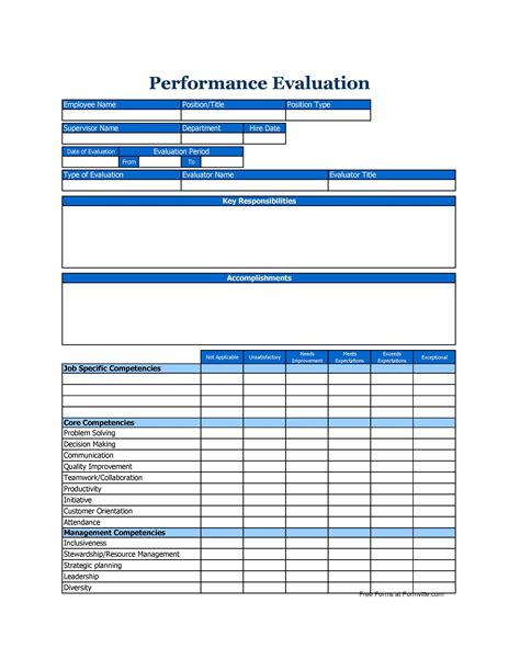 employee review form pdf free employee performance review form pdf sle answers