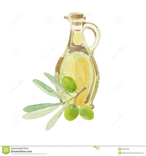 olivier cuisine branche d 39 olivier et une bouteille du dessin d 39 huile d