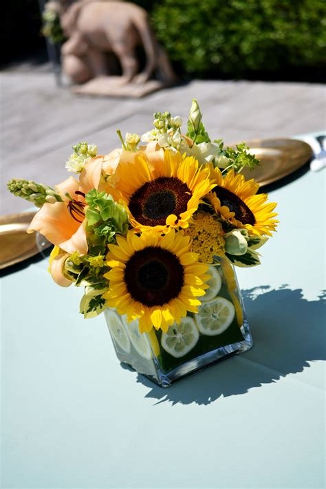 sunflower centerpieces centerpiece sunflower party