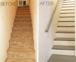 Painted Decks And Porches by Before And After Carpeted Stairs Get Painted Stratton
