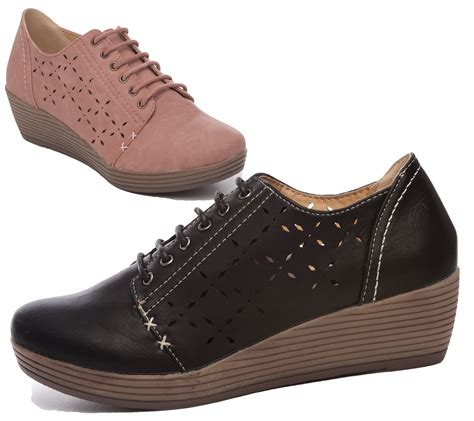 comfortable shoes for work womens low wedge heel casual comfort office work