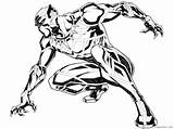 Panther Coloring Pages Printable Coloring4free Superheroes Print sketch template