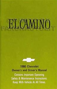 1980 Chevy Malibu  Monte Carlo  And El Camino Foldout