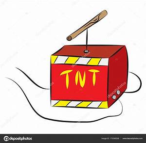 TNT box with igniter wired to explosive charge — Stock ...