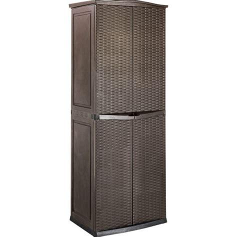 Keter Rattan Effect Garden Storage Cupboard Brown