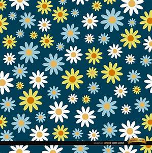 Daisies pattern background - Vector download