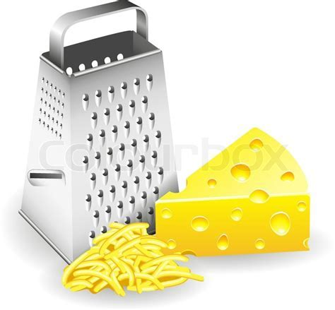 Grater and Cheese   Stock Vector   Colourbox