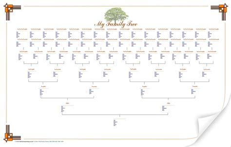 large blank family tree chart geneology family tree