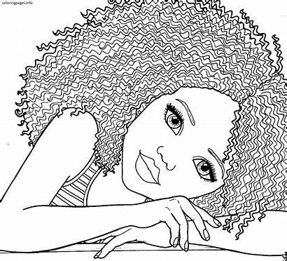 Coloring Pages African American Printable Woman Pdf