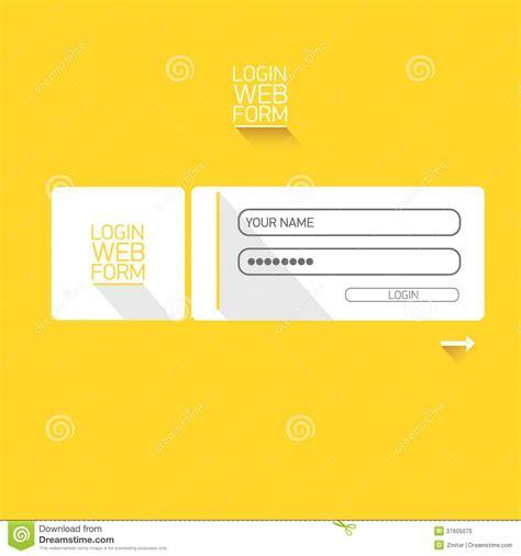 vector login website template flat design royalty free