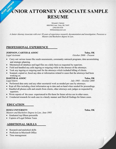patent attorney resume format patent attorney resume exle