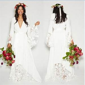 2016 beach boho wedding dresses bohemian style hippie for Bohemian beach style wedding dresses