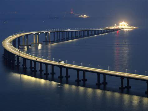 hong kong macau bridge china to open mega bridge and tunnel 34 across the