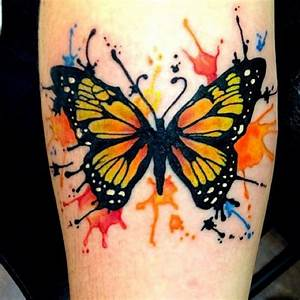 Watercolor Butterfly tattoo on forearm | Totally Tats ...