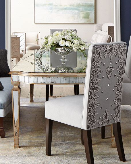 Johnrichard Collection Eliza Antiqued Mirrored Dining