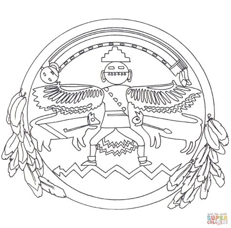 native american mandala coloring page  printable