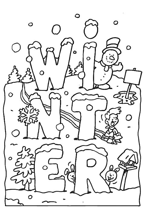 Winter Coloring Pages Winter Coloring Pages To Color In When It S Cold Outside