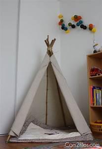 Tipi Chambre Bébé : diy mon petit tipi couture bebe pinterest chambre enfant couture et enfant ~ Teatrodelosmanantiales.com Idées de Décoration