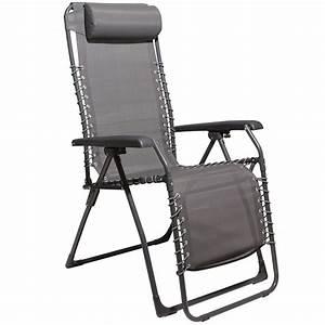 Fauteuil Relax Jardin Gifi : fauteuil relax noir transat fauteuil et hamac mobilier de jardin jardin et plein air gifi ~ Melissatoandfro.com Idées de Décoration