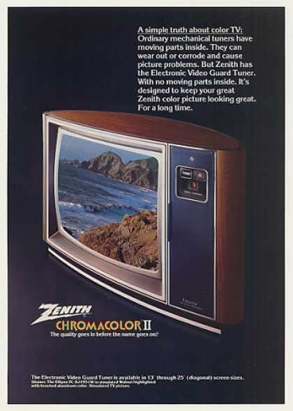 what year did the color tv come out vintage electronics tv of the 1970s page 5