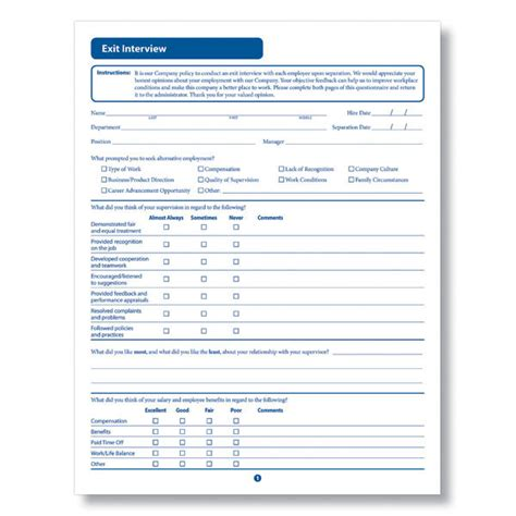 exit interview forms templates exit interview form downloadable