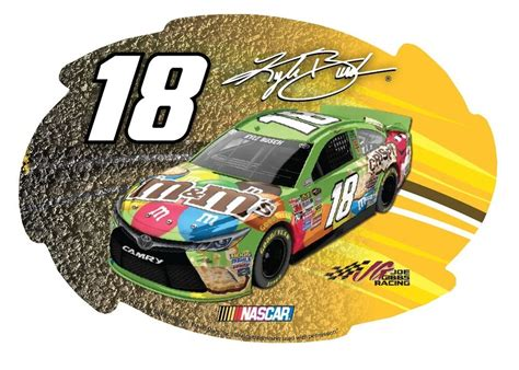 18 Car Nascar by Nascar 18 Kyle Busch Car Magnet Kyle Busch Magnet 5 Quot X 6
