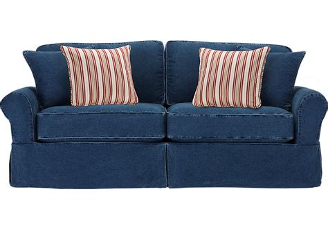 home beachside blue denim sofa home beachside blue denim sleeper sleeper