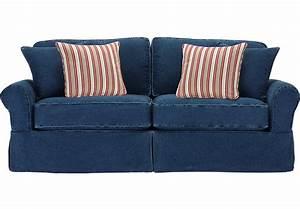 Cindy Crawford Home Beachside Blue Denim Sofa Sofas Blue