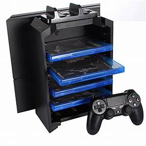 ICE FROG Game Disk Storage Tower Holder With Controller