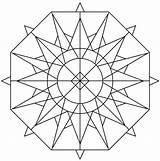 Kaleidoscope Coloring Pages Drawing Simple Sia Printable Template Mandala Sketch Getdrawings Popular Categories sketch template